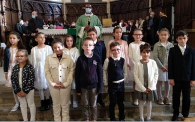 1 ère communion du 4 octobre 2020 à St Malo du Bois