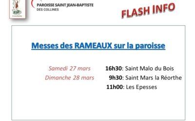 Flash info Messe des rameaux
