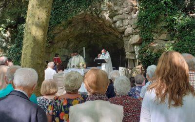 Messe à la grotte de la Coussaie le 8 septembre à St Malo du bois